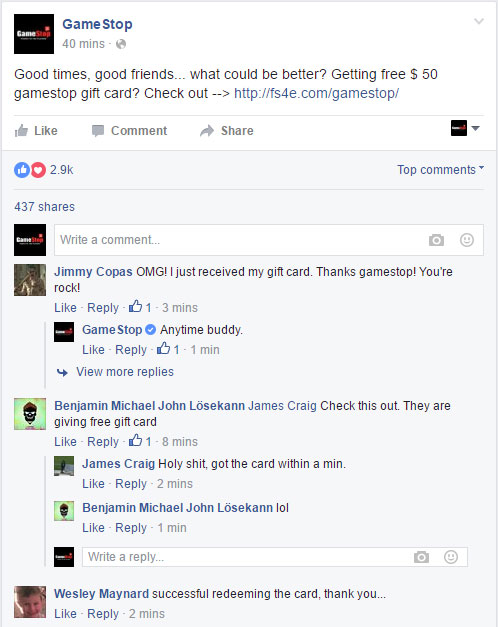gamestop free gift card coupon proof
