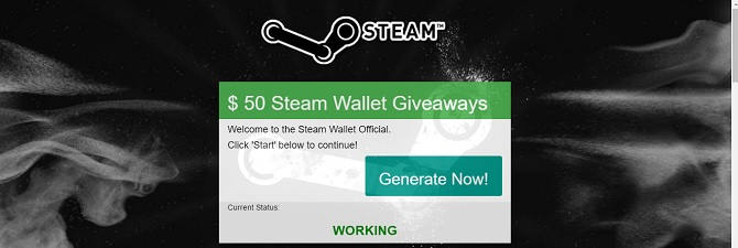 steam wallet giveaway, use our generator to get the code