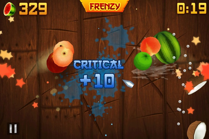 fruit ninja frenzy time