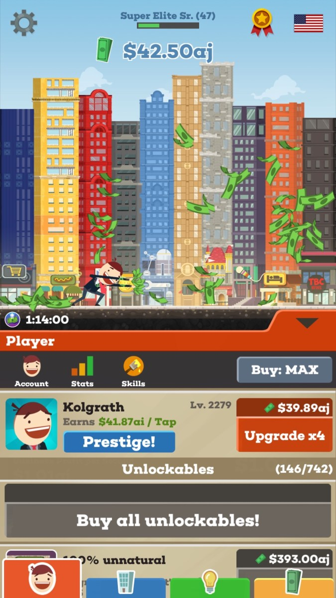tap tycoon gameplay